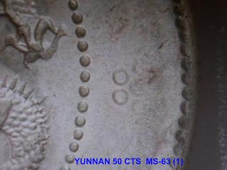 Moneda de plata China . CY50c1