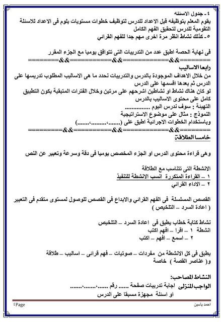 بالصور: الطريقة الصحيحة لتنفيذ حصة اللغة العربية والقرائية لصفوف المرحلة الابتدائية  3