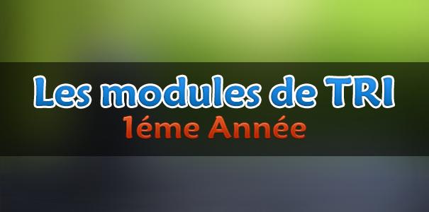 Tout les modules TRI 1ere annee et 2eme annee 3