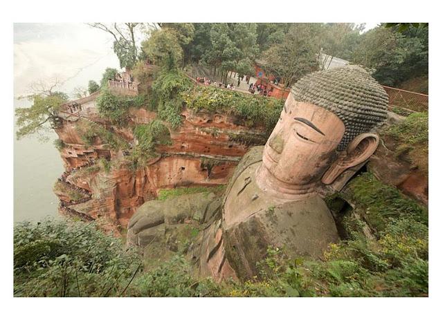 The Leshan Giant Buddha: Largest Stone Buddha in the World  Leshan-Buddha-A