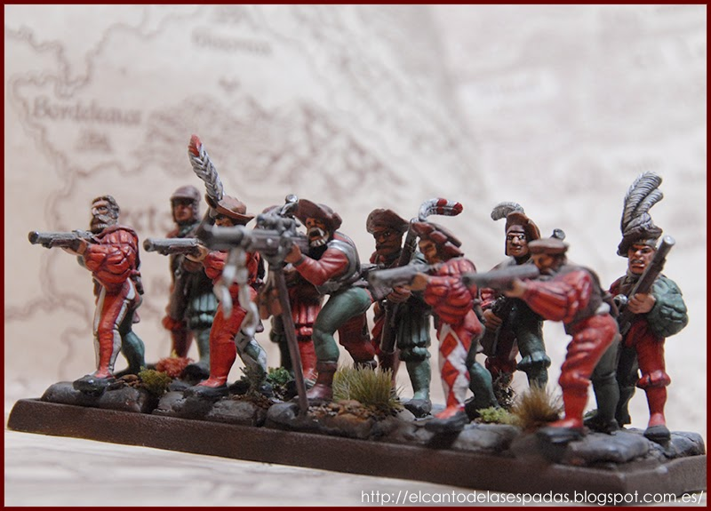 El Canto de las Espadas Miniatures. Arcabuceros-imperiales-hochland-warhammer-1