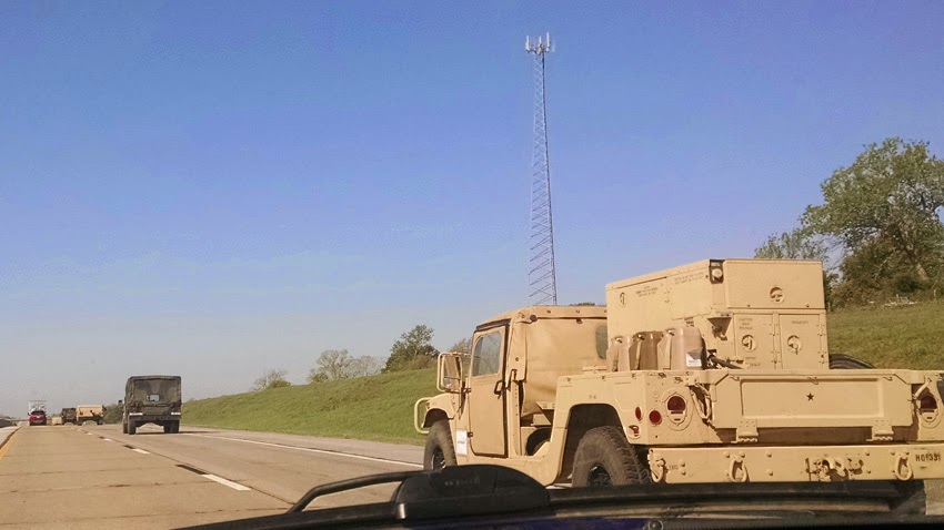 Major airborne operation in North Carolina involving U.S. 82nd Airborne Division and the United Kingdom's 16 Assault Brigade Military_convoy_usa_texas02