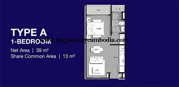 Gateway at Cambodia The-Gateway-%2540-Cambodia-Floor-Plan-1-Bedrooms-Watermark