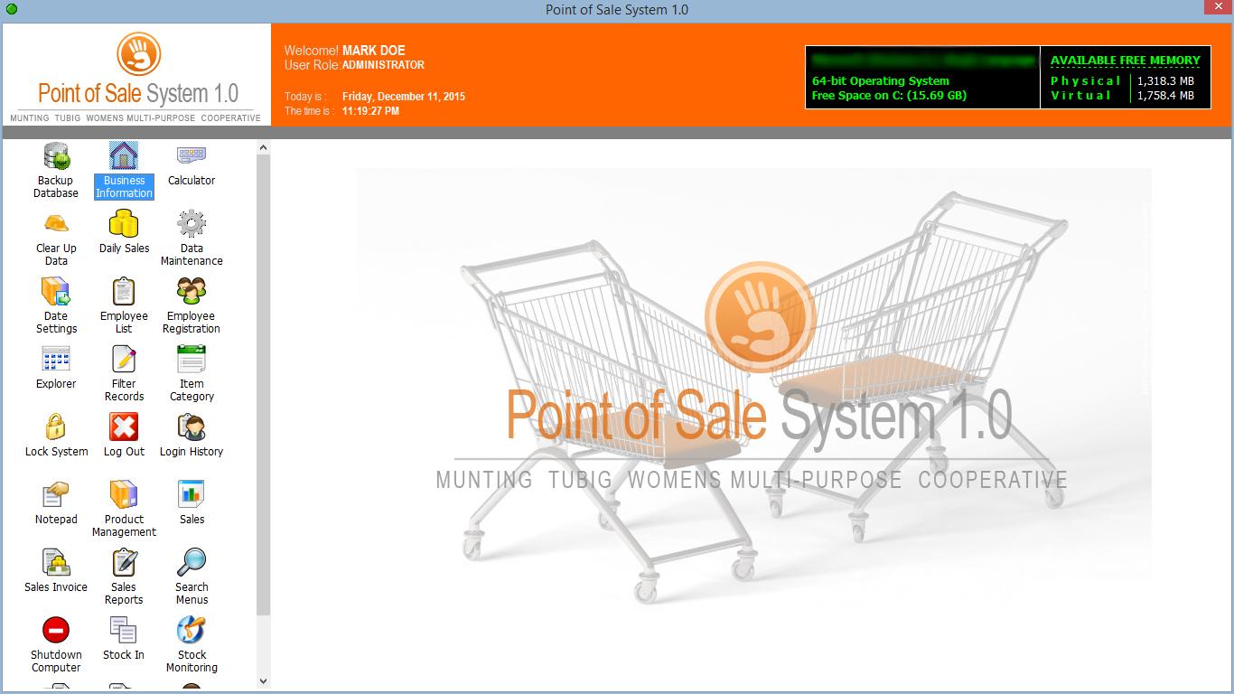 نظام مبيعات و مخازن مفتوح المصدر Point Of Sales & Inventory System 3