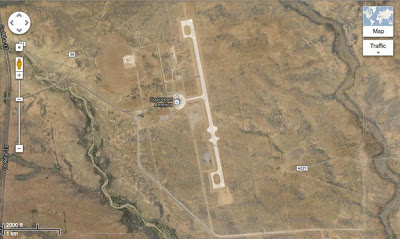 Spaceport America Readies to Welcome Space Tourists  Spaceport-america-satellite-view