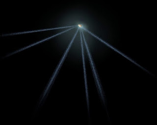 Bizarre Asteroid with Six Tails Spotted by Hubble Telescope  Hubble-asteroid-tails-artist
