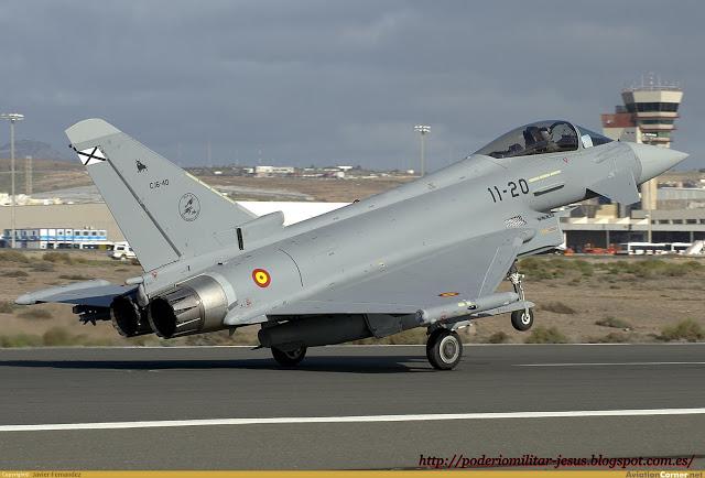 Colombia - Colombia evalúa el Eurofighter en la base aérea española de Morón. Caza%2BEurofigter%2B%25281%2529