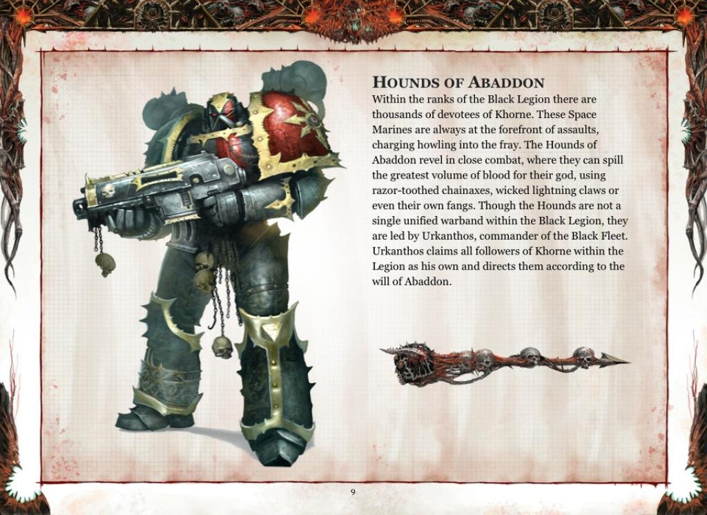 Black Legion - Supplément au Codex: SM du Chaos BL-hounds