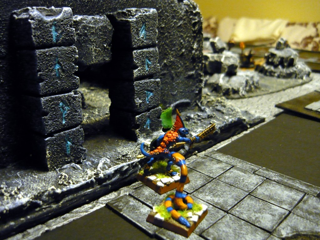 Testing Karak Zorn - first battle in the dungeons P1050513