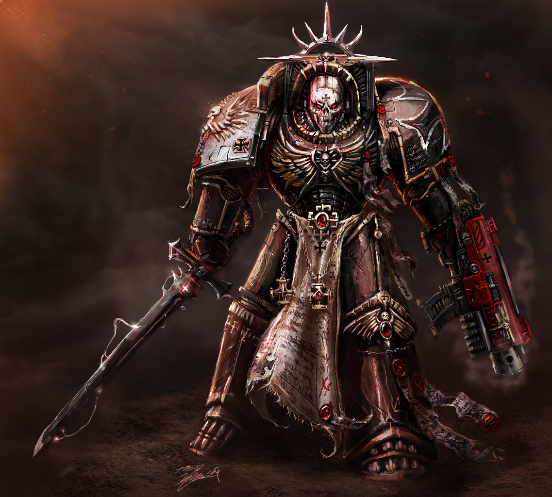 [W40K] Collection d'images : Space Marines Black_templar_chaplain_by_LordHannu