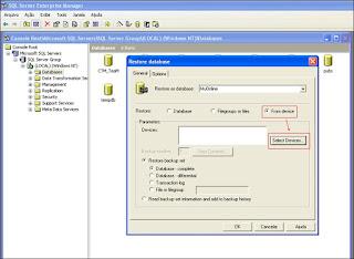 Como Restaurar uma Database no SQL Server 2000 Part4