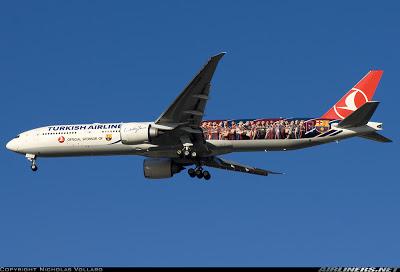 Conhece o 777-300 da Turkish adesivado com o time do Barcelona? 2069792