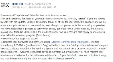 Update des 337 et extension de garantie 3