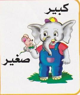 لتعليم الاطفال الصفات المضادة بالرسومات الشيقة باللغة العربية حضانة KG1 & KG2 6