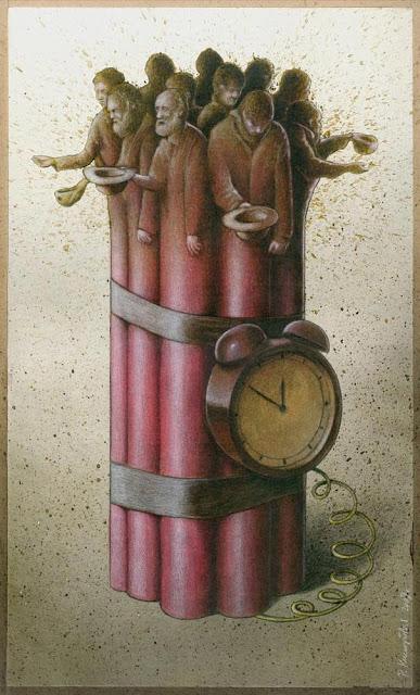 Slike poznatih umjetnika koje su vama lijepe Satirical-art-pawel-kuczynski-11