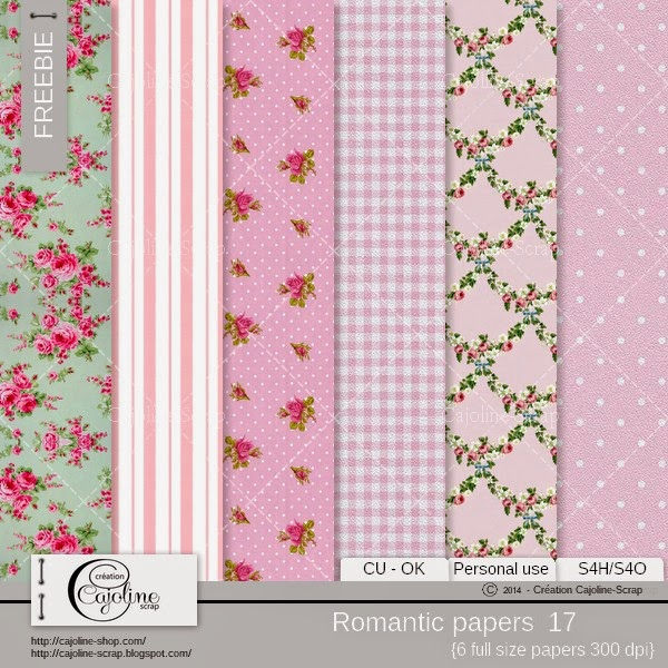Freebie - CU Romantic papers 17 Freebie_cajoline_romanticpapers_cu_17