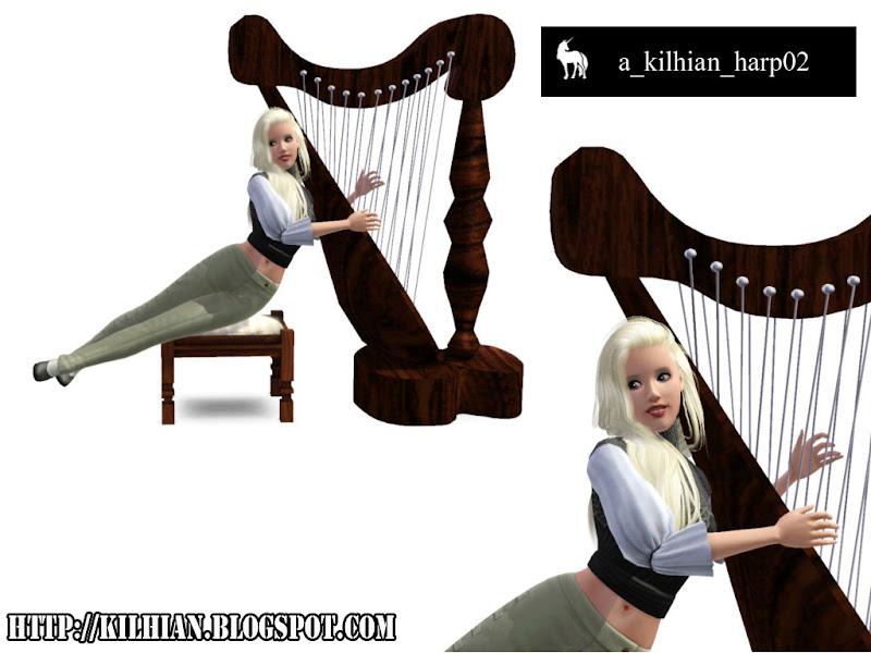 Pose Set N°01 - On Stage! by Kilhian Harp02