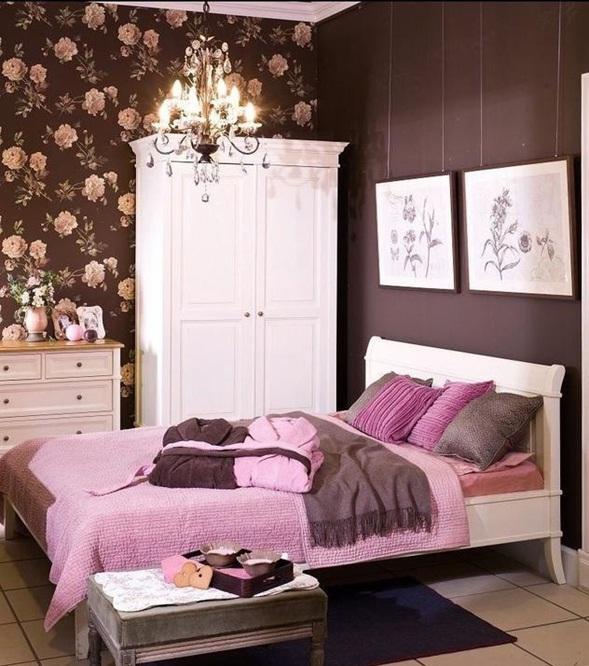 Shugo chara: el fin o el comienzo de la verdadera historia   Dormitorio-chocolate-rosa-femenino