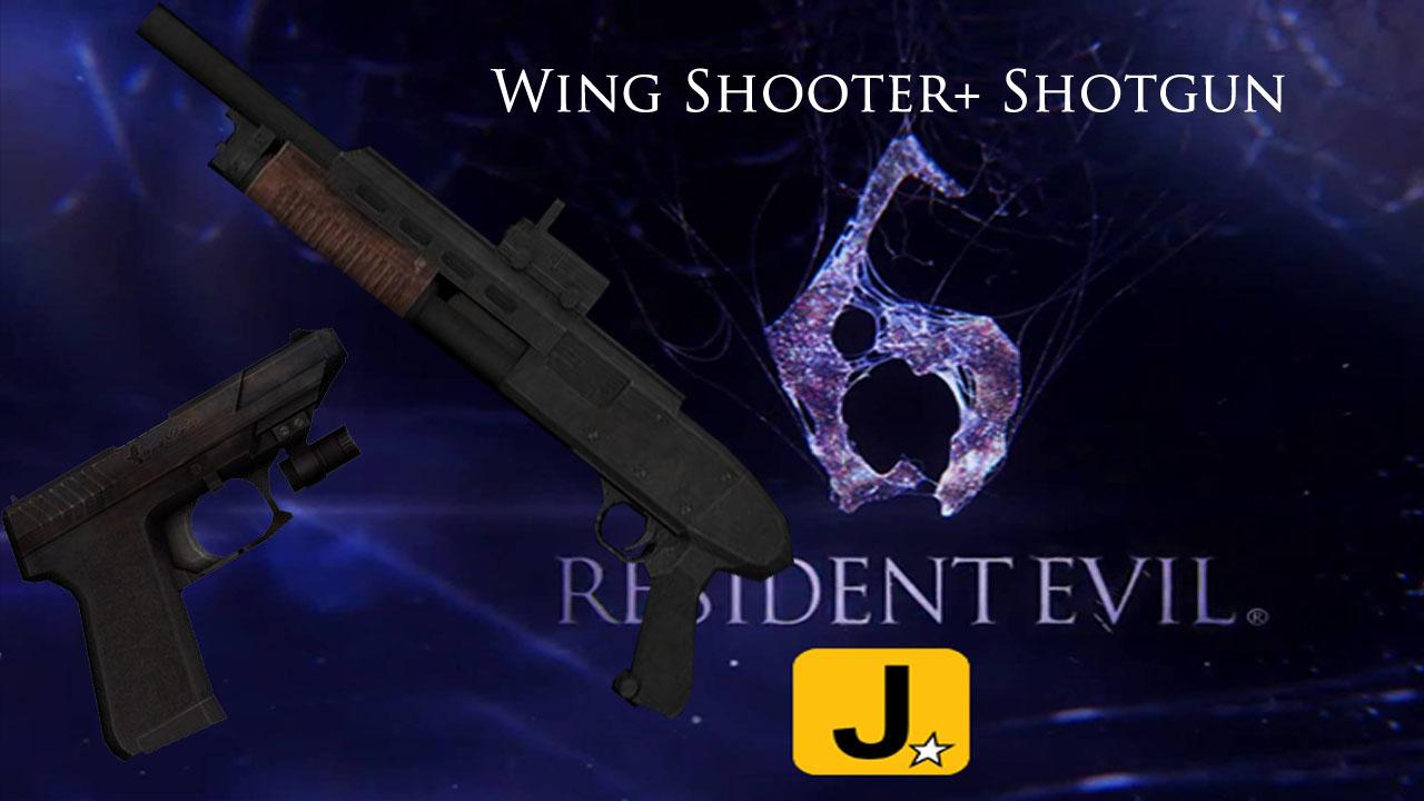 Wing Shooter+ Shotgun Resident Evil 6 Pistolayescopeta