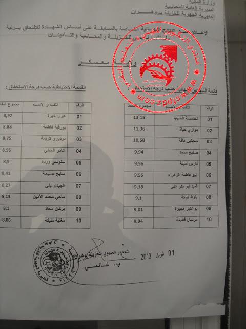 قائمة الناجحين في مسابقة المديرية العامة للمحاسبة لولاية معسكر افريل 2013 DSCF7580aa