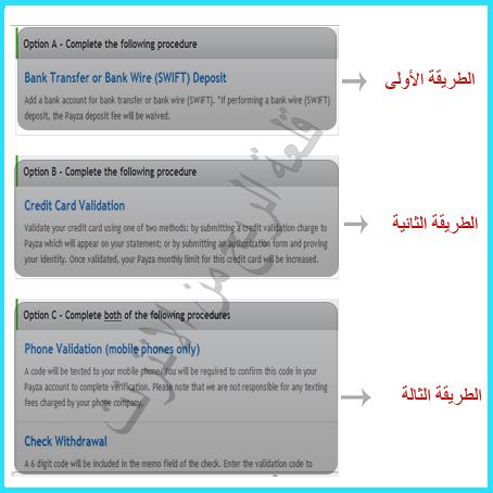 شرح التسجيل في بنك payza بالصورة +تفعيل الحساب 9