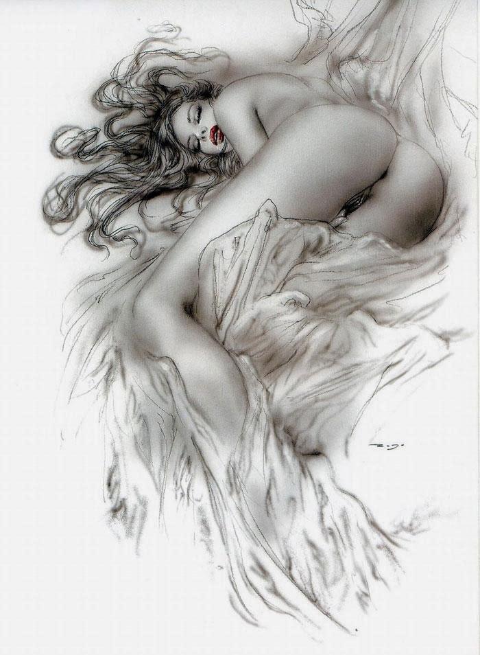 Luis Rojo Galeria-Luis-Royo-Erotica-masturbacion