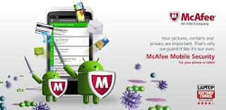 افضل واسرع واقوى 5 برامج انتي فايروس لهواتف الأندرويد 2013 Macafee