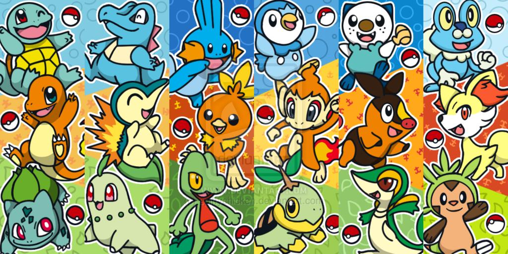 Qual seu pokemon inicial favorito? Cachomon.deviantart.com