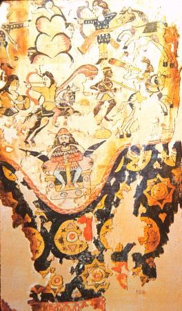 El demonio en el románico - Página 2 Khosrau_I_Textile