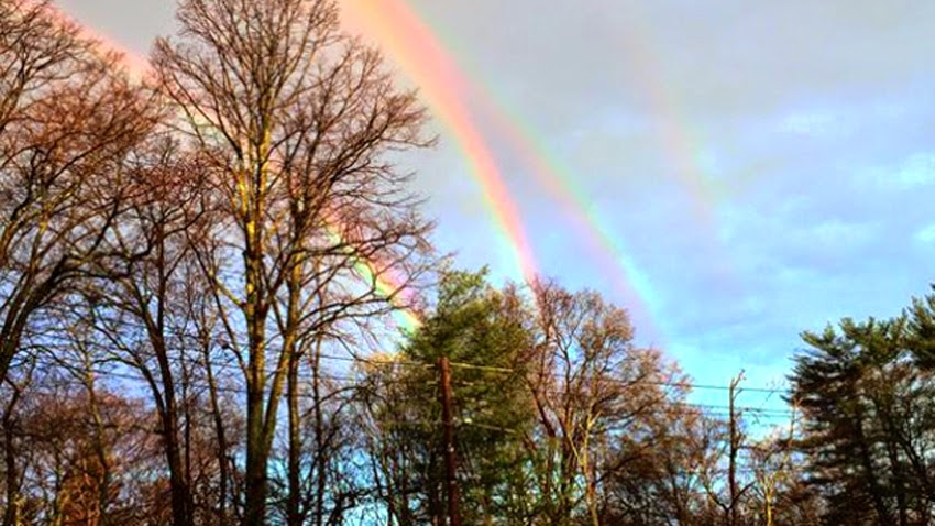 "WEATHER PHENOMENON: ""I Didn't Realize How Rare It Was,... It Was Beautiful"" - QUADRUPLE RAINBOWS Spotted On Long Island, New York! [PHOTOS] Quadruple_rainbows01"