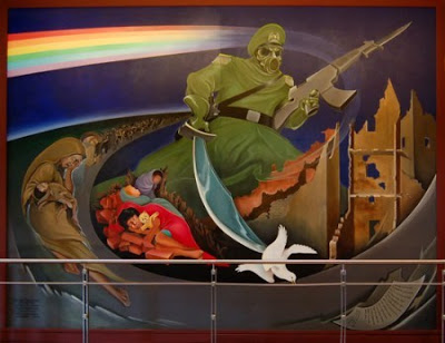 Les fresques apocalyptiques de Bank of America Denver-airport-mural