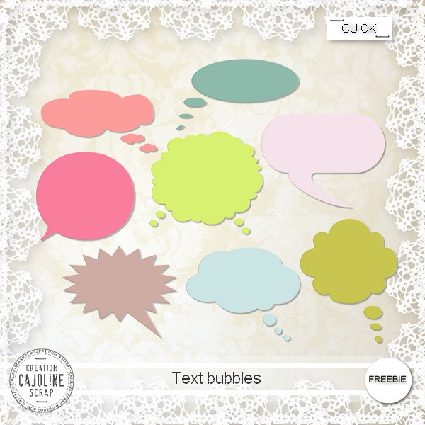 Baloes de fala Cajoline_textbubbles