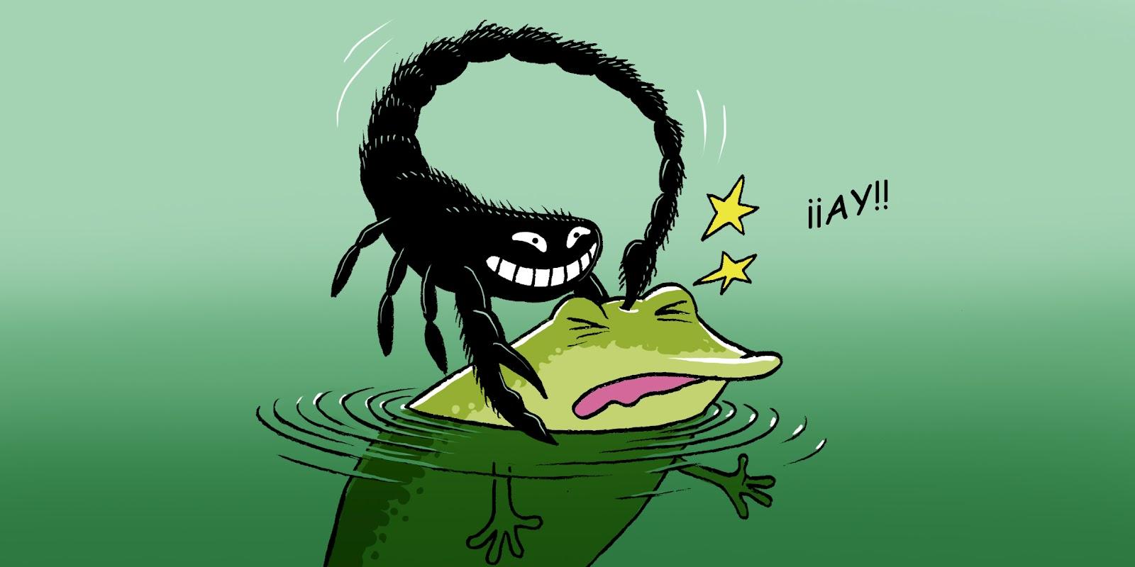 El escorpión y la rana, de Esopo y demás fábulas La-Rana-y-el-Escorpi%C3%B3n-10