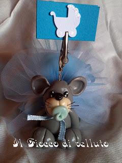 Bomboniere portafoto in pasta di mais Mouse