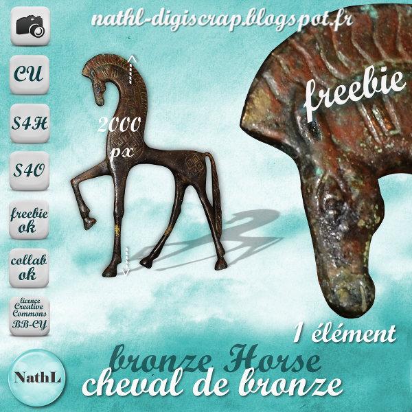 Bronze Horse statue - FS/CU NathL-chevalbronze-CU-2014