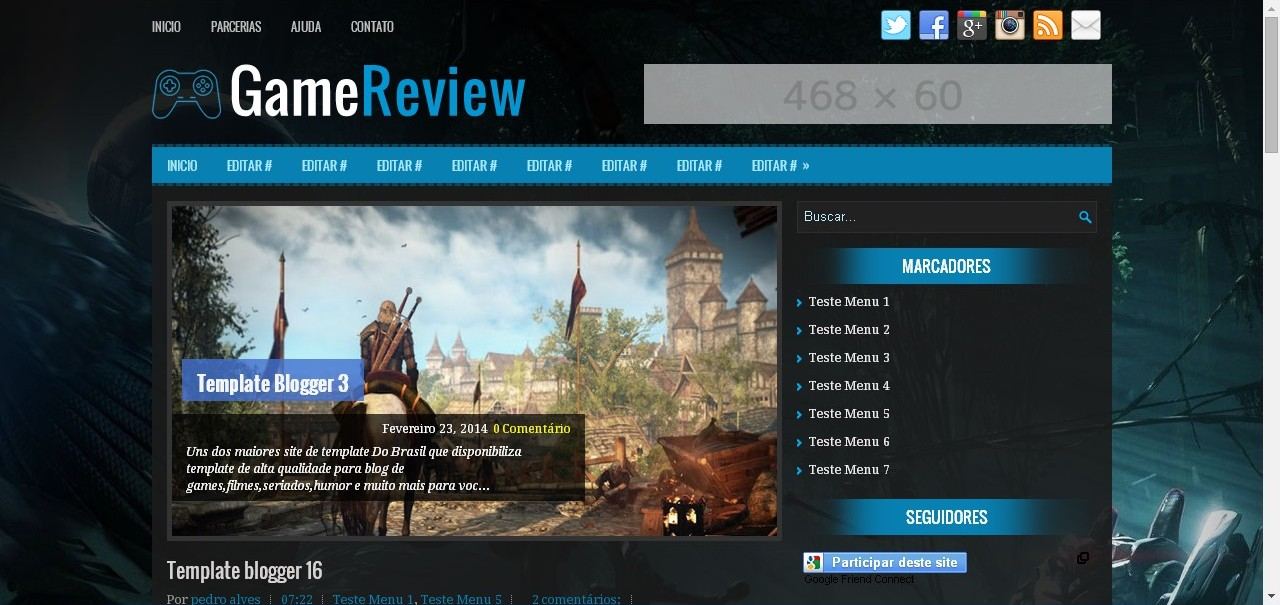 [BLOGGER] GameReview | Template via Blogger 1