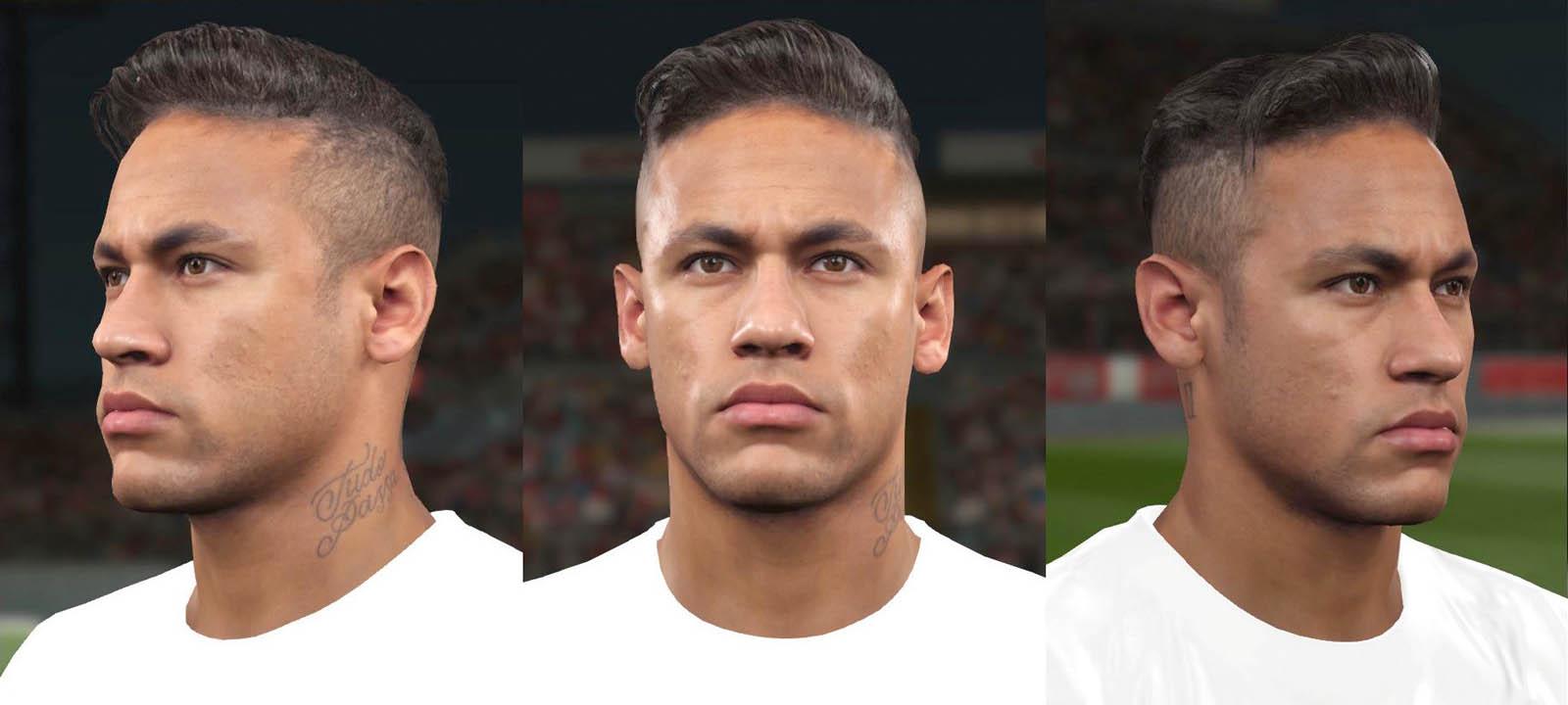 Neymar divulga imagem mostrando como seu rosto no PES 2016 Neymar-pes-2016-face