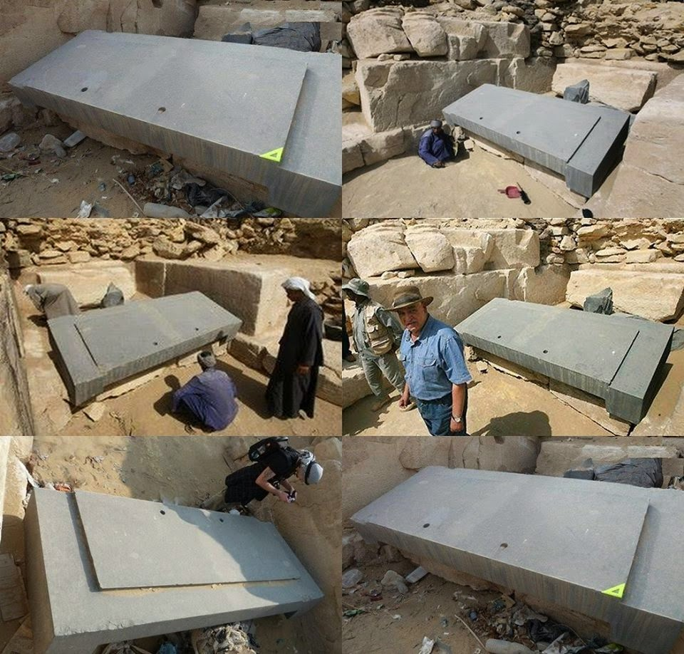 What happend with this Basalt Block that was uncover under the sand in Egypt? 10538550_1544079949139239_1334754220421349627_n