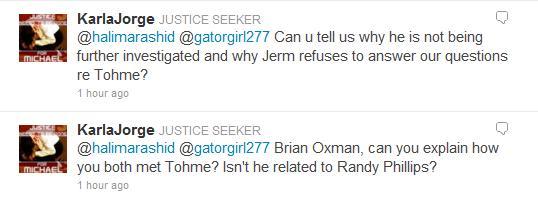 Halima denied being niece Tohme Tweet11