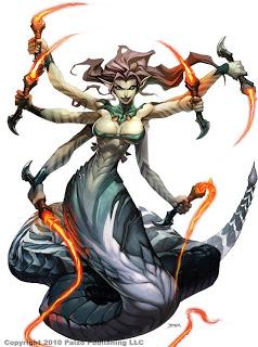 Cachoeira das Almas Six-armed-warrior-monster-girl