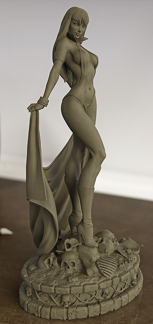 [Dynamite] Woman of Dynamite: Vampirella Statue Keyshot%2Brender