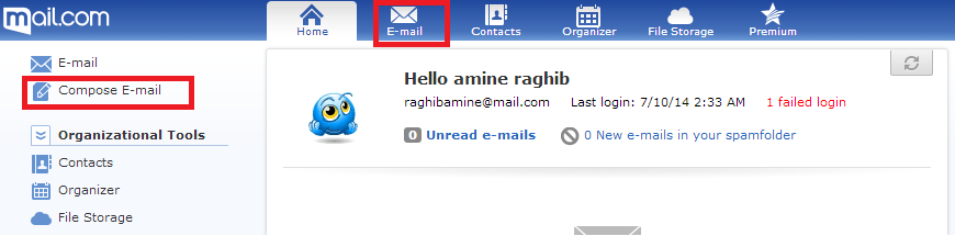أحصل على عنوان بريد إلكتروني راقي mail.com@ وفاجئ اصدقائك Email