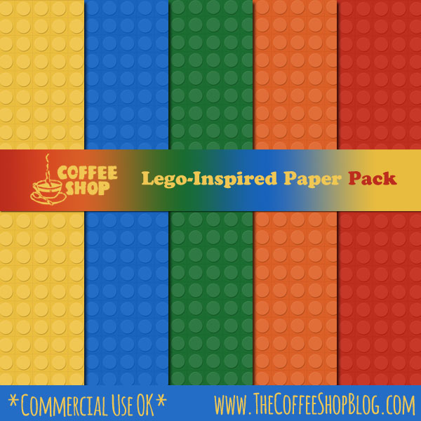CoffeeShop Lego-Inspired Digital Paper Pack! CoffeeShop%2BLego%2BPaper%2BPack%2Bad