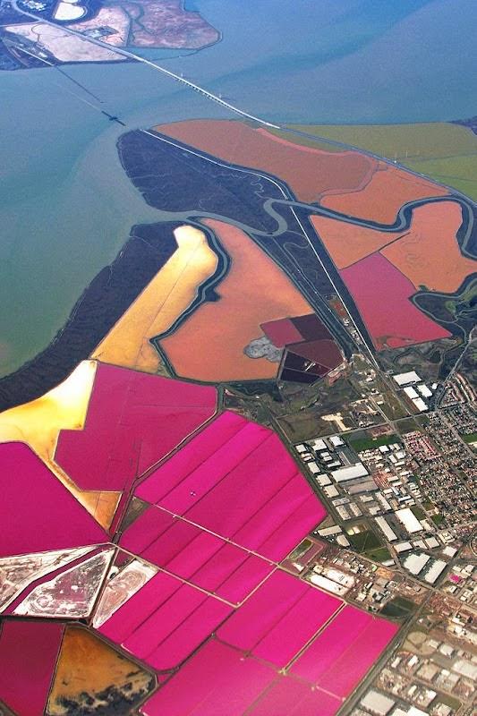 احواض الملح الملونة في خليج سان فرانسيسكو (بالتة الوان طبيعية)  6
