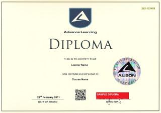 كيف تحصل على شهادة أو دبلوم في اللغة الإنجليزية من الأنترنت مباشرة Diploma