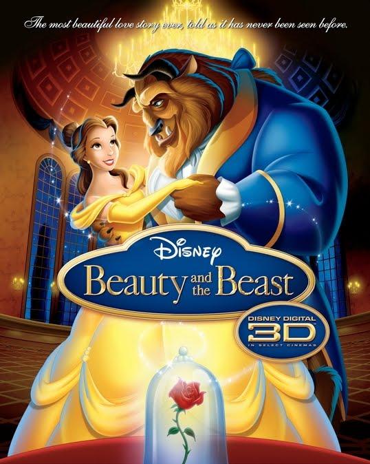 La Bella y la Bestia en 3D en cines y otros reestrenos. Beautybeastposter3d
