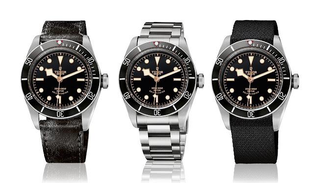 """Tudor's new Black Bay """"Black"""" Tudor-Heritage-Black-Bay-Black-79220N-trio"""
