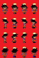 Sprites Dragon Ball Z compatível com Rm xp GokuChar-1