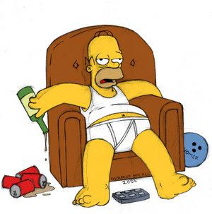 Сколько человек должен работать - Безусловный базовый доход Homer_simpson_on_a_chair_by_HamJava
