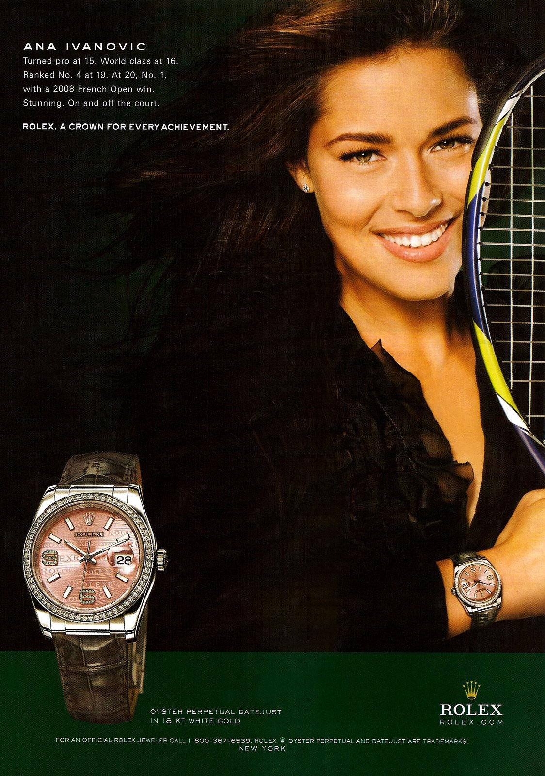 Actu : Frédérique Constant choisit Miss Monde 2010 pour ambassadrice Ana-Ivanovic-Rolex